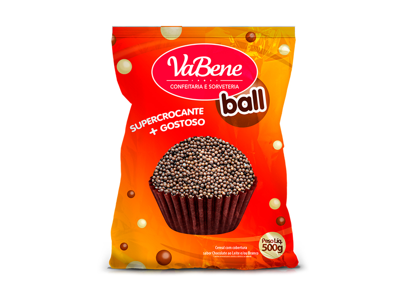 Confeito VaBene Micro Cereal Chocolate 500g