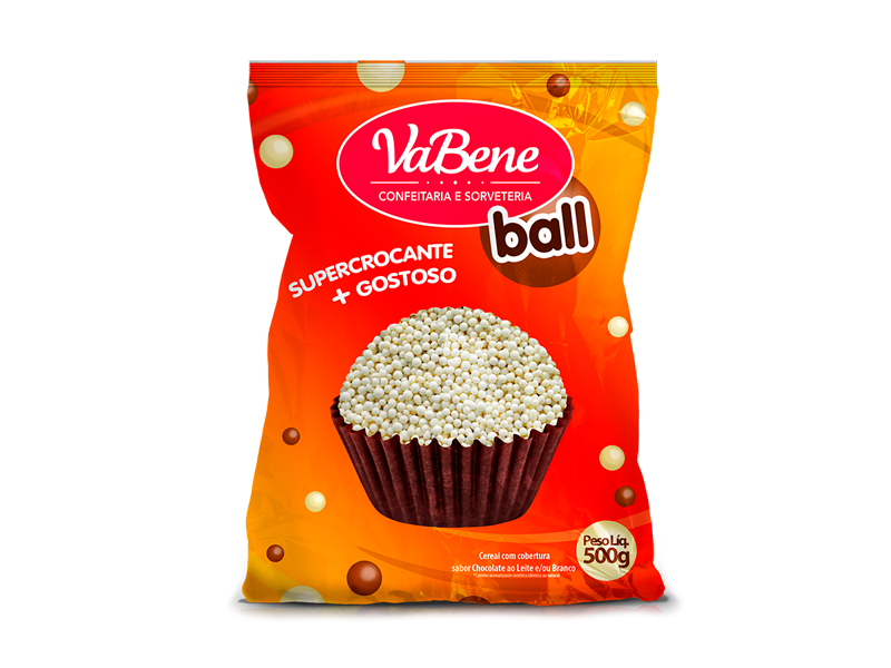 Confeito VaBene Micro Cereal Branco 500g