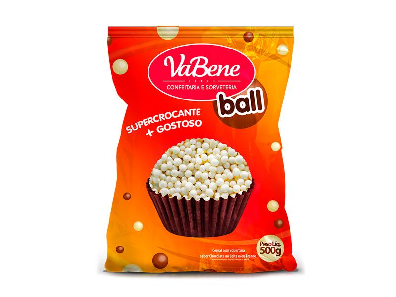 Confeito VaBene Mini Cereal Branco 500g