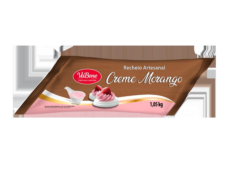 Recheio Artesanal VaBene Creme Morango Manga 1kg